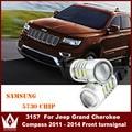 Señor de la noche 2 unids/lote 7.5 w 9 ~ 16 v 5730 15smd 3157 para jeep grand cherokee brújula 2011-2014 frente drl luz turnlightled