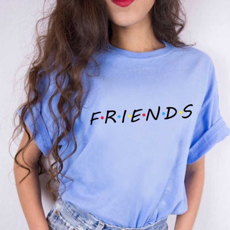 65352afa0b1 ... Friends Tv Show T-Shirt Letter Printing Aesthetic Clothing Women s  Graphic Tees Tumblr Popular Summer