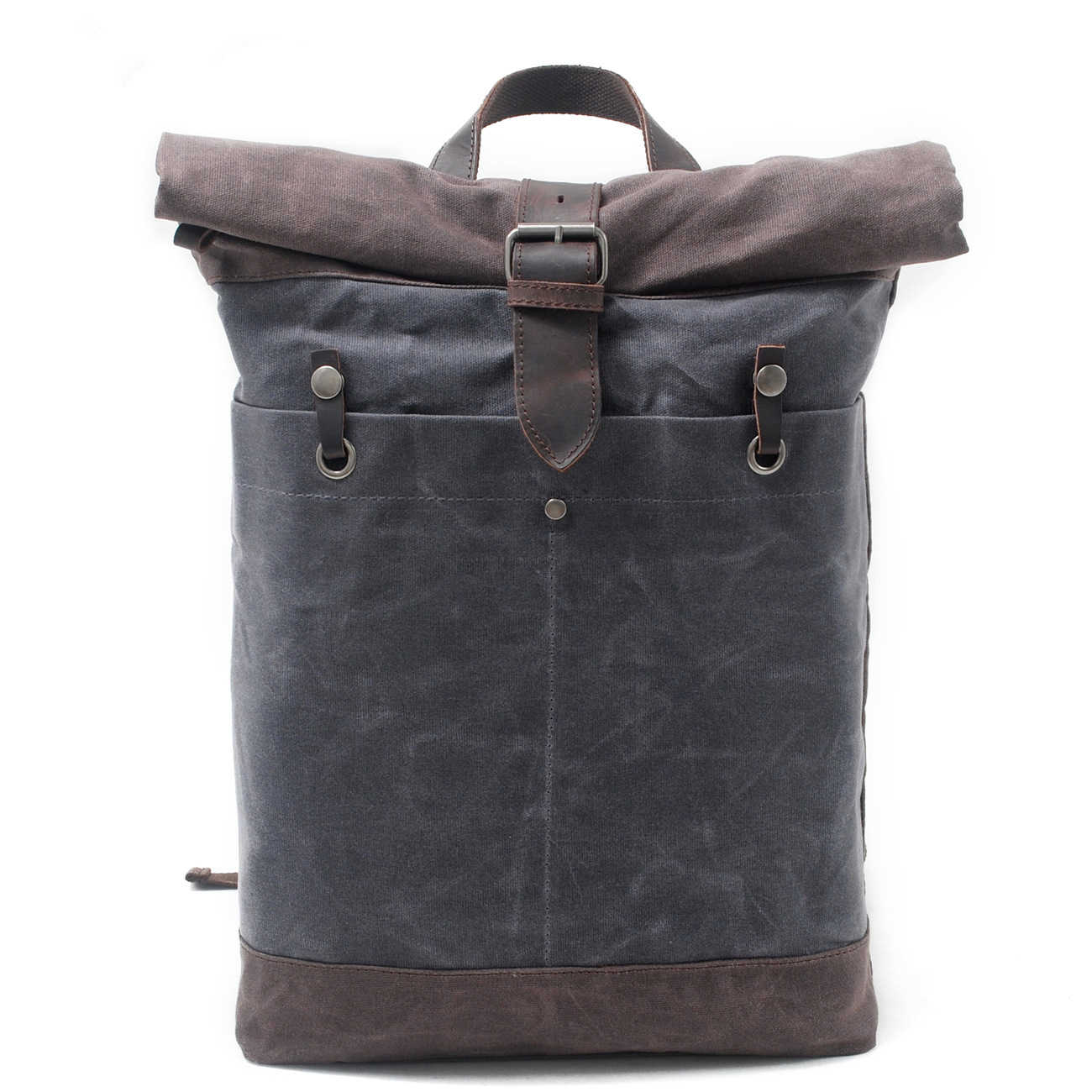 79523586d Melodycollection Man OilSkin Bags Batik Waxed Canvas Rucksack Backpack Roll  up top bag men's waterproof out
