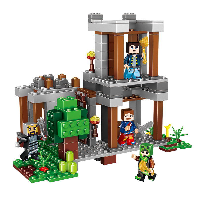 LELE Model Building Blocks Compatible with legoed My World Minecraft Educational Bricks playmobil Boys toys for children 4in1 lepin 22001 pirate ship imperial warships model building block briks toys gift 1717pcs compatible legoed 10210