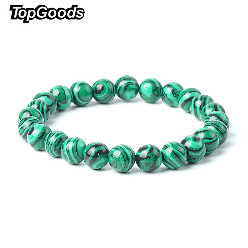 TopGoods 2018 Natural Green Malachite Bracelet Bead Stone Antique Charms Bracelet 8mm Gemstone Jewelry Bracelets for Women MenTopGoods 2018 Natural Green Malachite Bracelet Bead Stone Antique Charms Bracelet 8mm Gemstone Jewelry Bracelets for Women Men