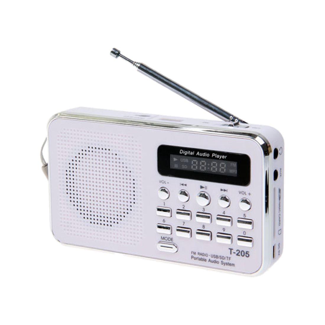 Portable Stéréo Mini Haut-Parleur Numérique FM Radio pour Mobile Téléphone Tablet PC Portable