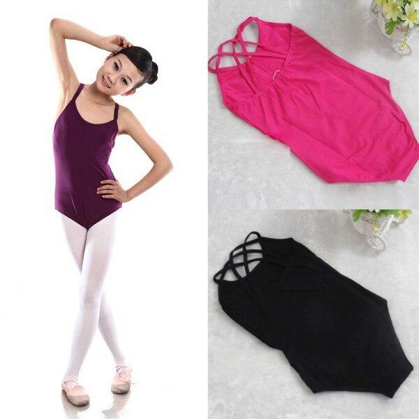 Kids Girls Sleeveless Ballet Gymnastics Bodysuit Leotard Cotton Dance Suit 6-12Y Wholesale