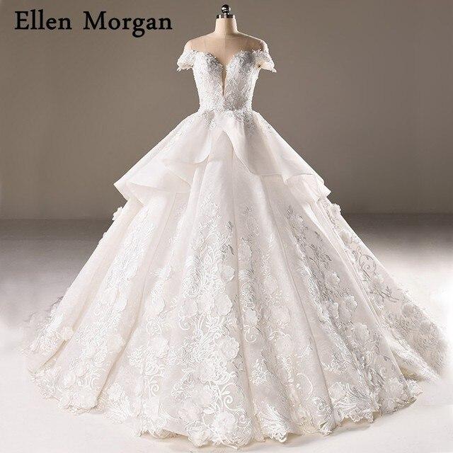 Vintage Lace Ball Gowns Wedding Dresses 2018 Vestido De Noiva ...