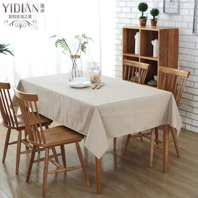 Simple Style Tablecloth Modern Solid Color Cotton Table Cloth Home  Waterproof Tablecloth For Wedding Decoration Tafelkleed