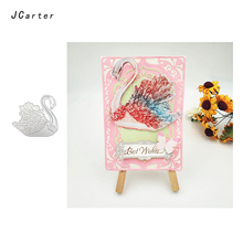 JC 2019 New Arrival Crystal Swan Metal Cutting Dies for Scrapbooking DIY Embossing Folder Cards Handmade Album Stencil Crafts