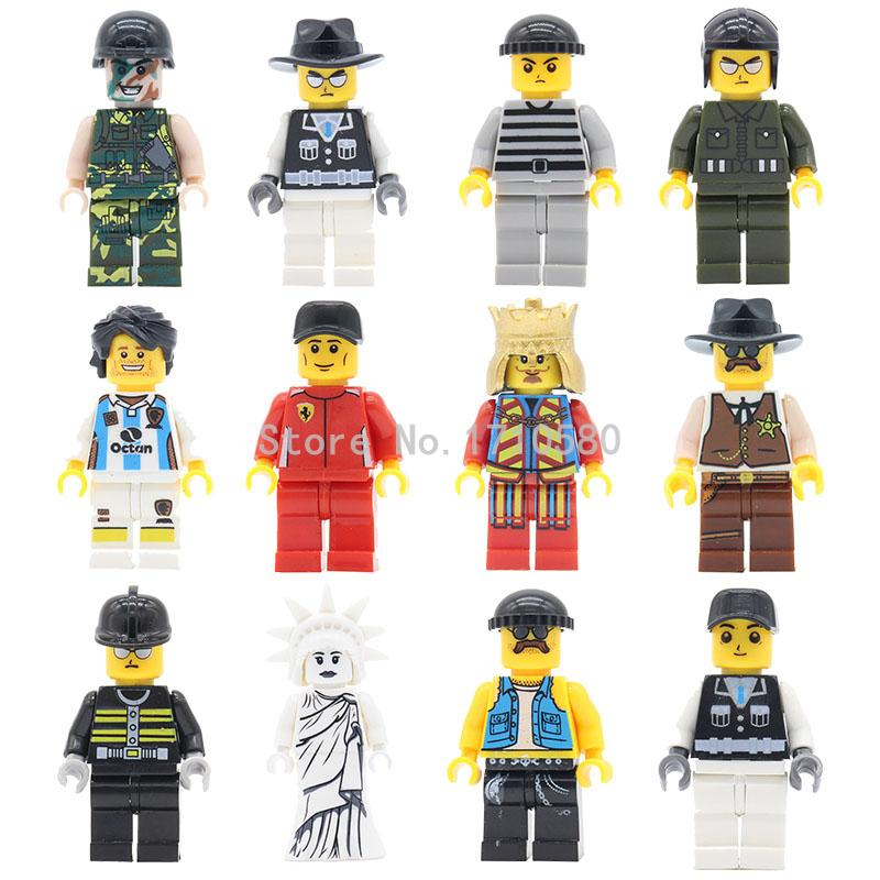 Great Price Mini Dolls City Blocks Single Sale Kids Toys Statue Of Liberty Messi King Prisoner City Police Trooper Solider hot sale 12cm foreign chavo genuine peluche plush toys character mini humanoid dolls