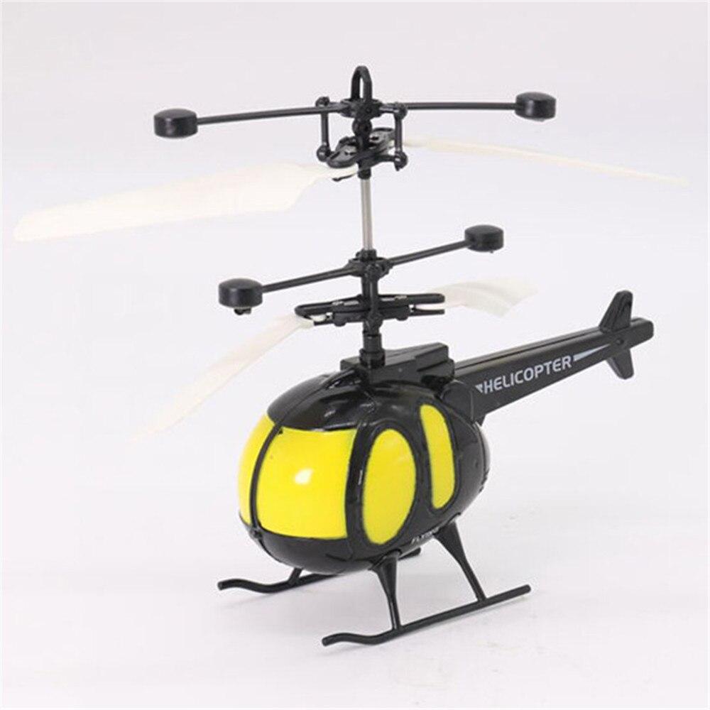 Mini y a prueba de golpes helicópteros RC Sensor infrarrojo de Control de inducción helicóptero RC diseño de línea suave Drone Dron Juguetes