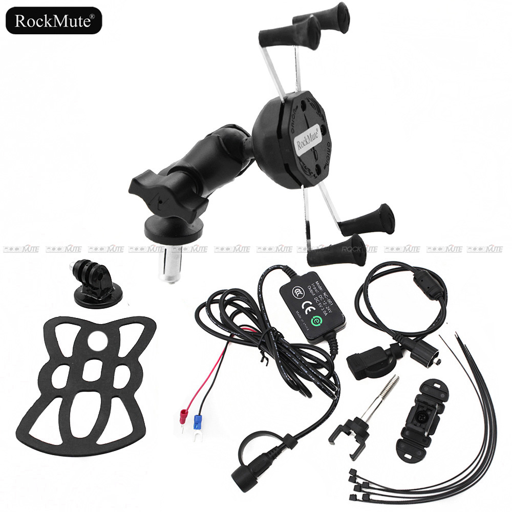 Sport Camera/Mobile Phone Holder <font><b>For</b></font> <font><b>Honda</b></font> CBR600RR <font><b>CBR</b></font> 600RR 2007-2017 Action Cam/VCR/<font><b>GPS</b></font>/Phone Mount Bracket with USB Charger image