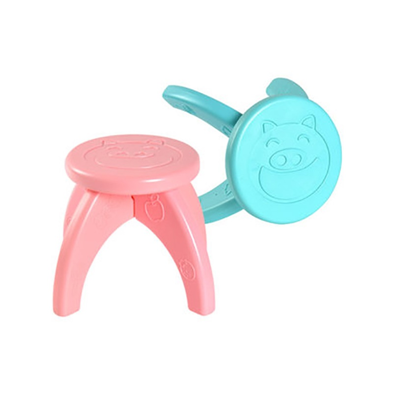 Dropship Folding Step Stool Thicken Mini Cartoon Firm Chair for Kitchen Bathroom Bedroom Kids Adults Bench Baby Seat