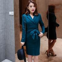 Fashion Women S Sexy Professional Temperament Dress Package Hip Slim Office Work Dress Autumn Winter High