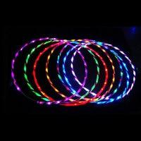90cm LED Glow Hula Hoop Performance Hoop Sports Toys Loose Weight Toy Kids