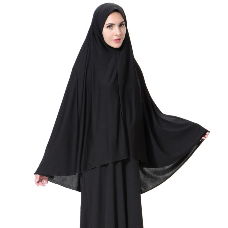 Black Face Cover Abaya Islamic Khimar Muslim Clothes Headscarf Robe Kimono Instant Long Hijab Arab Worship Prayer Garment new W3
