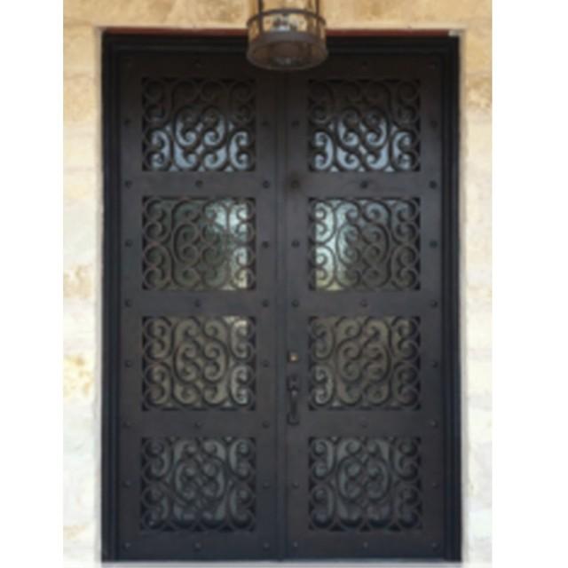 Aliexpress Buy Metal Glass Double Entry Doors Luxury Double