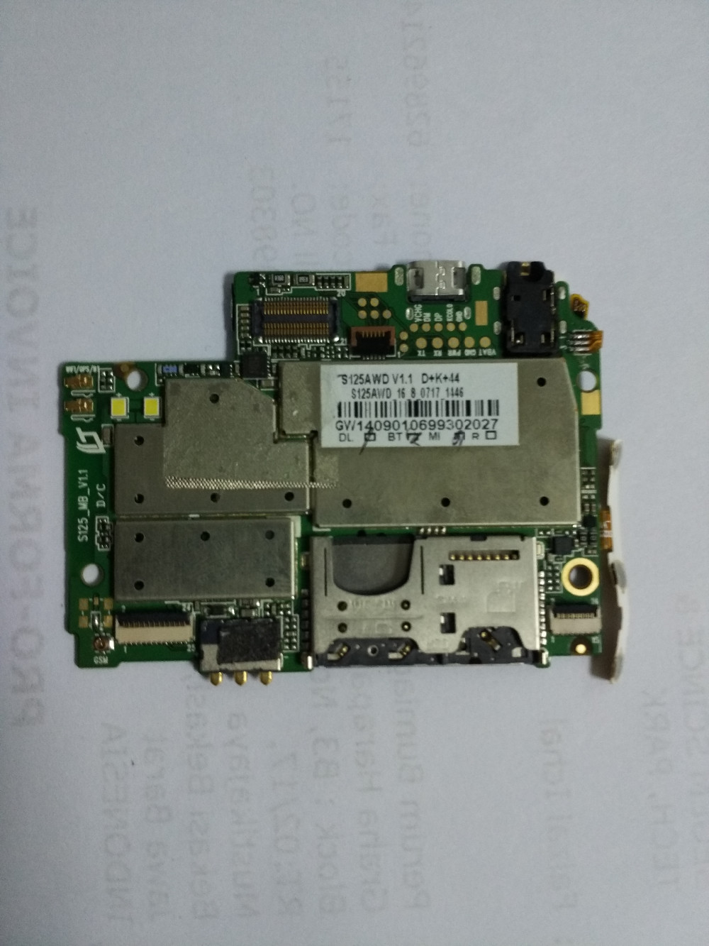 Used elephone P10 Mainboard motherboard repair replacement accessories for elephone P10 Free shipping+track