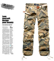 en's Multi Pocket Casual Camouflage Pants Men Military Cargo Pants Washed Trouers Loose Pants For Men New Arrival