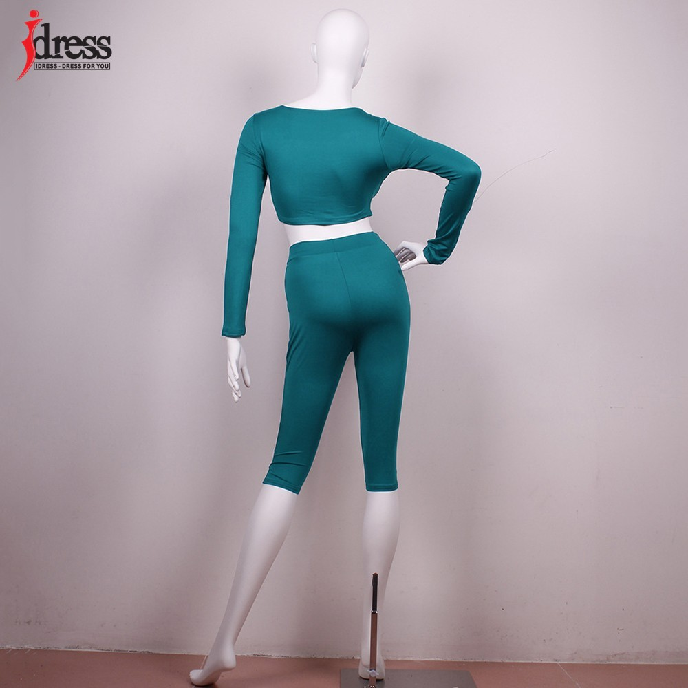 IDress Women Two Piece Bodycon Jumpsuit Playsuit New 2016 Summer Knee Length Black Bodysuit Sexy Club Elegant Rompers Womens Jumpsuit (1)