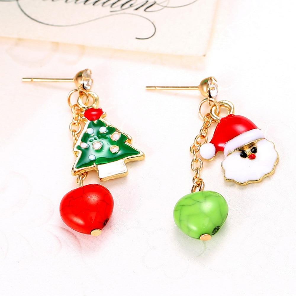 New arrival cute christmas earrings santa snowman