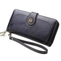 Бумажник для Для женщин кожаный маленький кошелек портмоне клатч Путешествия Сумочка монет мешок телефон сумка кошелек для девочек сумки ...