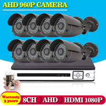 8CH AHD 1080N CCTV System  AHD DVR KIT 8CH video recorder 960p 1.3MP outdoor security camera System no HDD