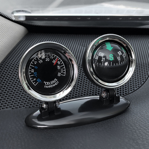 Car Thermometer Compass Orname