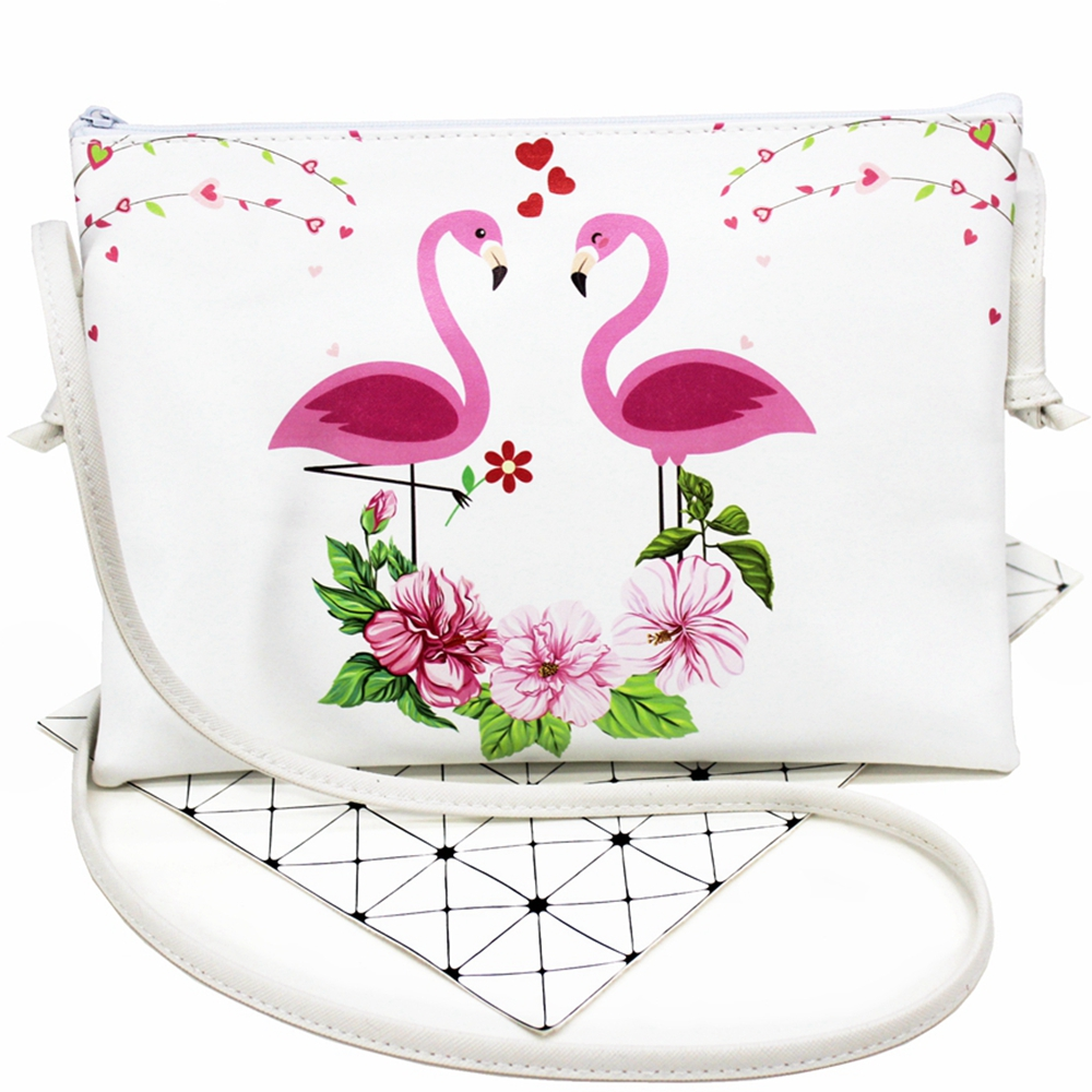 2018 New Cute children single/inclined shoulder bag Kid Flamingo design receive package girls messenger Students travel bags #40