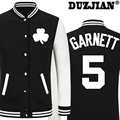 2016 Spring new Celtics KG Kevin Garnett casual jacket cheap men winter jackets male coat boys jacket hip hop youth jackets