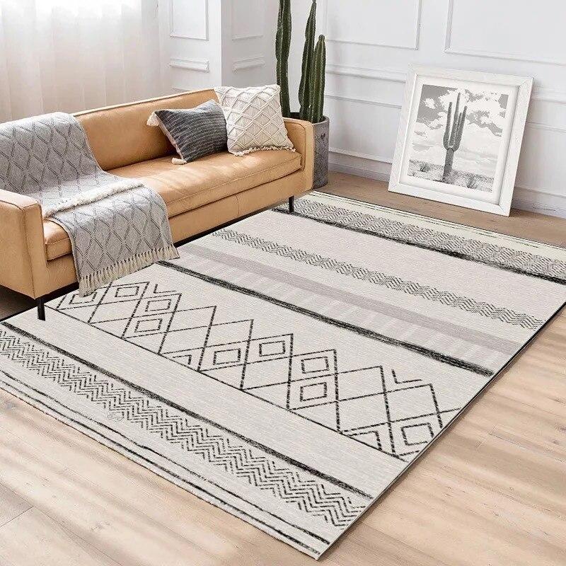 Simplicité Style nordique imprimé tapis grande taille haute qualité maison tapis moderne salon tapis nordique Ins motif géométrique tapis - 5