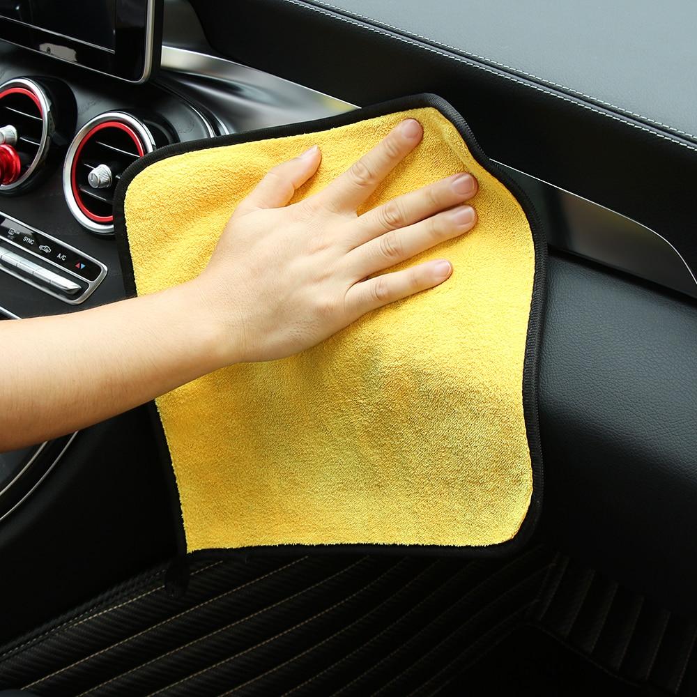 Exterior Accessories Car-styling Car Care Wash Cleaning Microfiber Towel For Dacia Duster Mitsubishi Asx Suzuki Vitara Alfa Romeo 156 Fiat Grande Strengthening Waist And Sinews Car Tax Disc Holders