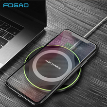 FDGAO 10W QI Wireless Charger For iPhone XS Max XR X 8 Plus USB Quick Charge Fast Charging Pad for Samsung S9 S8 Note 9 8 Xiaomi