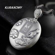 KJJEAXCMY Buddha Zen folk style Seiko fine silver 999 lady Lotus Sutra Guanyin Pendant