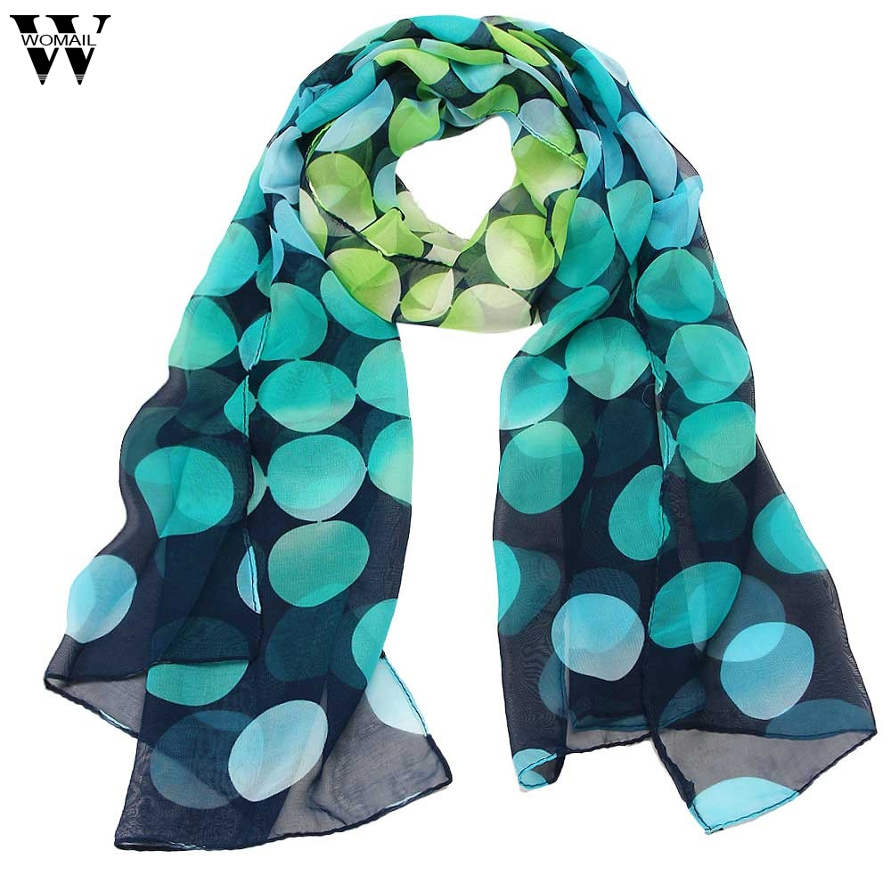 Amazin 2017 New Fashion Summer Womens Shawls and Scarves Female Chiffon Scarf