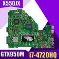 XinKaidi X550JX материнская плата для ноутбука ASUS X550JX X550JF X550JD X550JK X550J X550 оригинальный mainboar 4G RAM I7-4720HQ GTX950M
