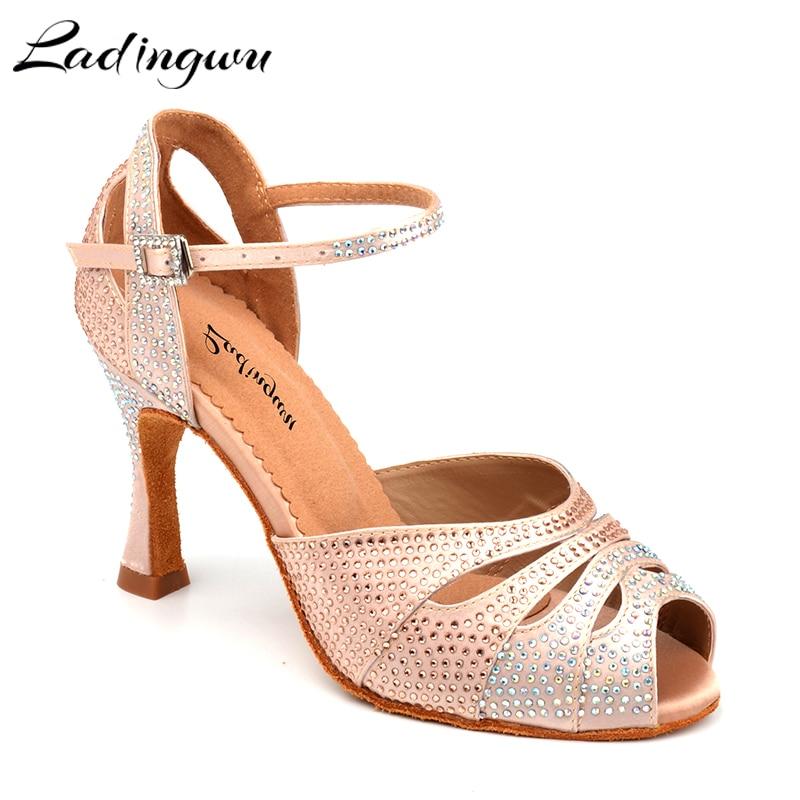 Ladingwu chaussures de danse femmes chaussures latines chaussures de danse de salon professionnel pour les femmes zapatos de baile latino mujer Performance