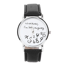 2017 New Design Scorching Girls Leather-based Watch No matter I'm Late Anyway Letter Watches Girls Woman Gown Wrist Bracelet Watch