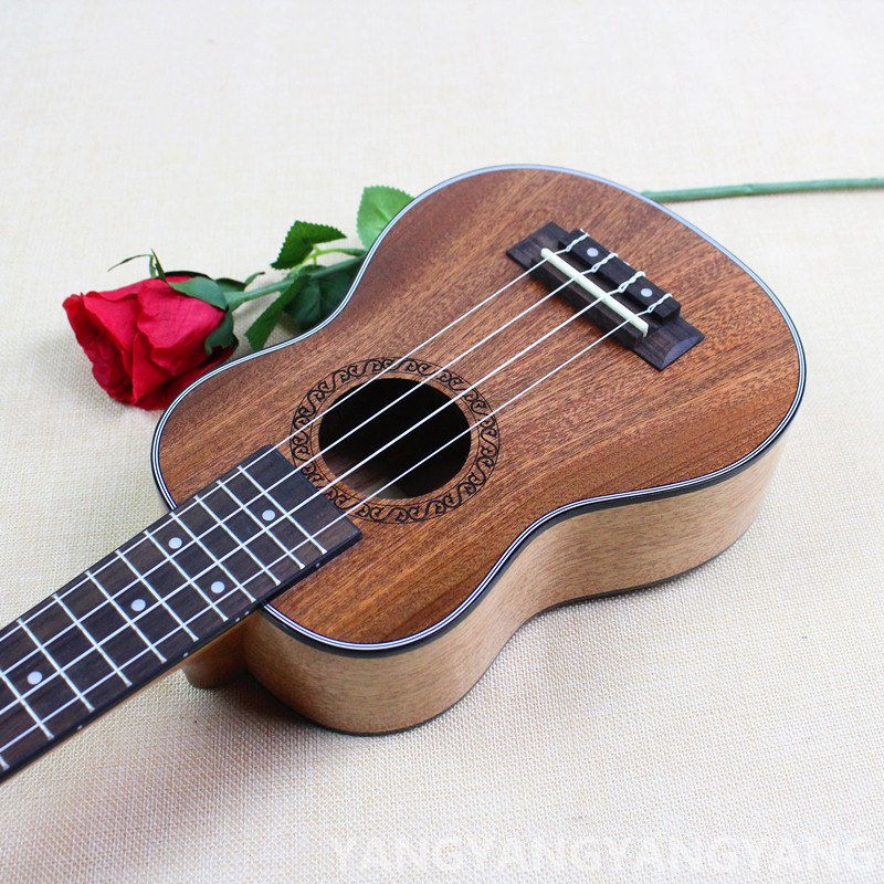 Soprano Ukulele 21 Inch Mini Hawaiian Guitar Mahogany 4 Strings Ukelele Handcraft Wood Guitarra Uke Mozart