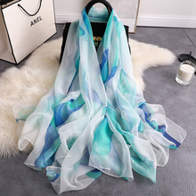 REALSISHOW Newest Chiffon Scarf Women Floral Printed Big Silk Scarfs for Ladies Summer Scarves Female Wholesale