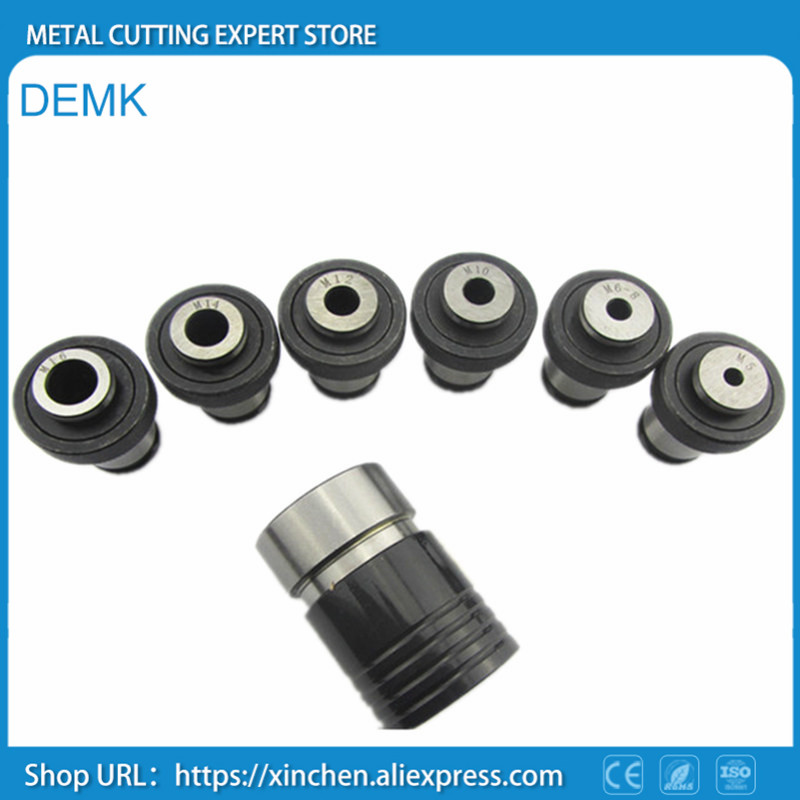 Quick Change Tap Chuck M5 M16 7pcs Connection hole Taper B18 for Mechanical Lathe Drilling Machine