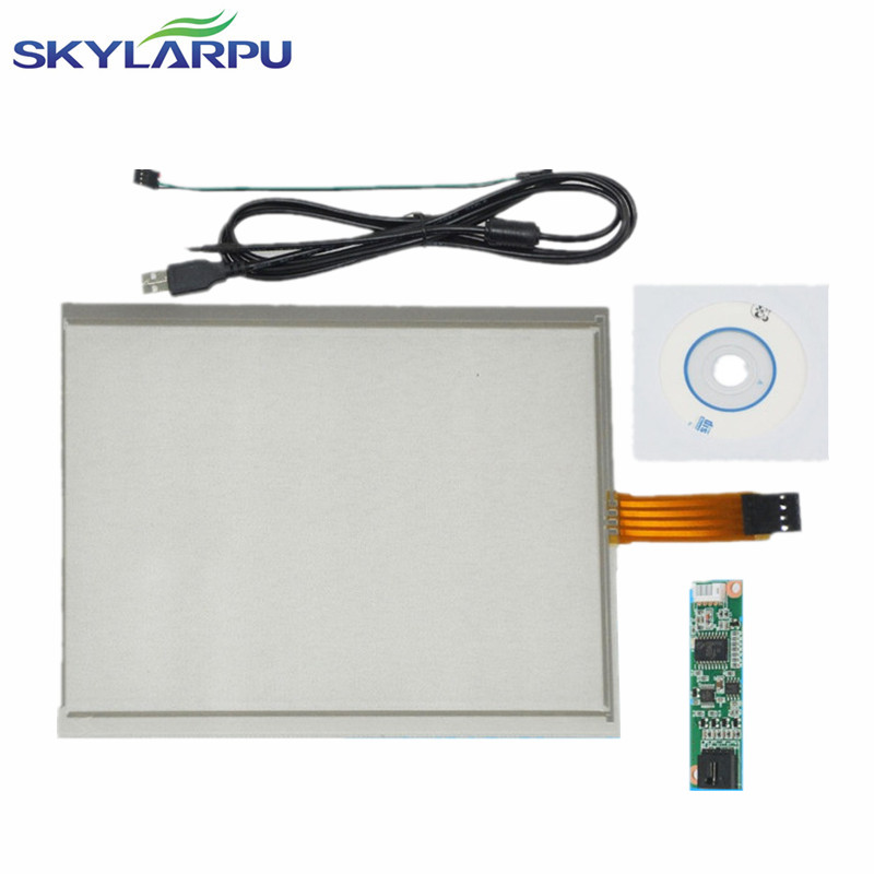 skylarpu 6.5 inch 4 Wire Resistive Touch Screen 143mm*117mm USB Controller for G065VN01 Screen touch panel Glass Free shipping new 10 1 inch 4 wire resistive touch screen panel for 10inch b101aw03 235 143mm screen touch panel glass free shipping