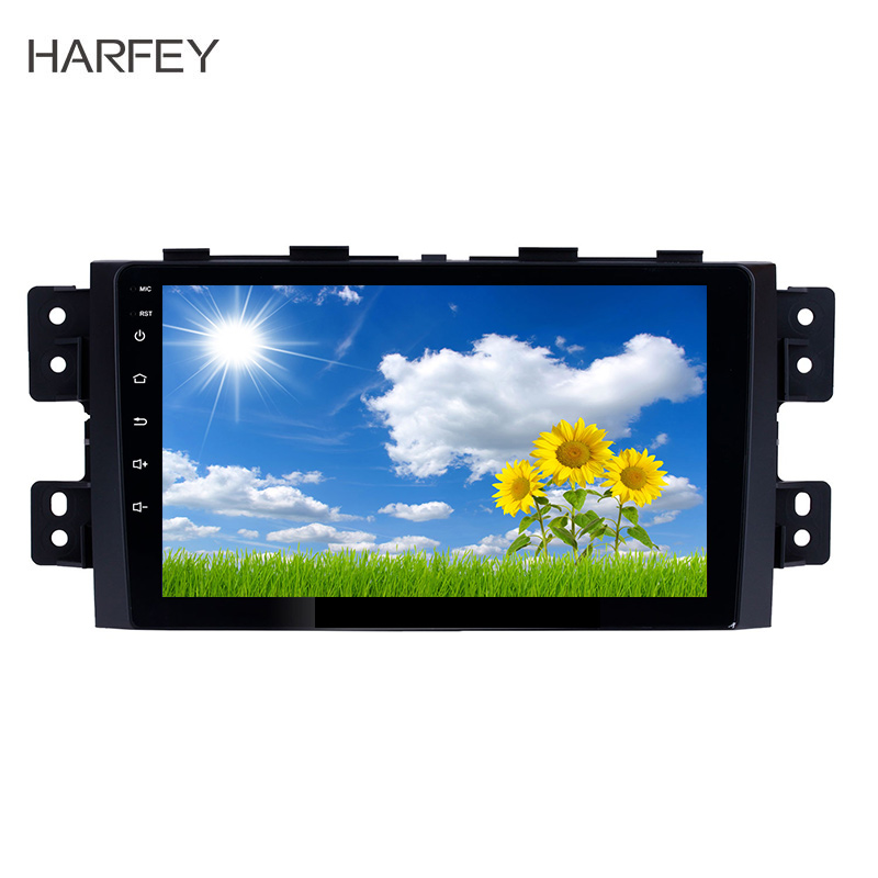 Harfey Quad Core Car Radio GPS Multimedia Player 9 inch Android 8 1 2Din DVR Head