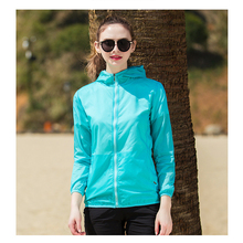 LXIAO Women Breathable Waterproof Sun & UV Protection Skin Coat Quick Dry Long Sleeve Camping Clothes Jackets Easy Carry