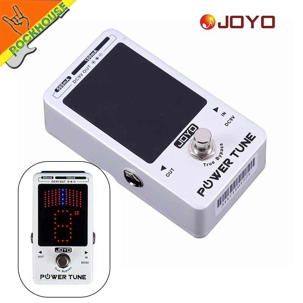 JOYO JF18R Guitar Pedal Power Supply Pedal Tuner 2 in 1 pedal adapter 9V 100ma 500ma