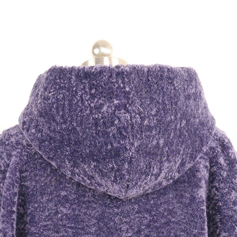 Plus Épaissie Furry Purple Taille 5xl Faux Femme Capuche 6xl Chaud Manteau De La Hiver Veste 7xl Avec Nerazzurri Fourrure U7wxA8fn1q