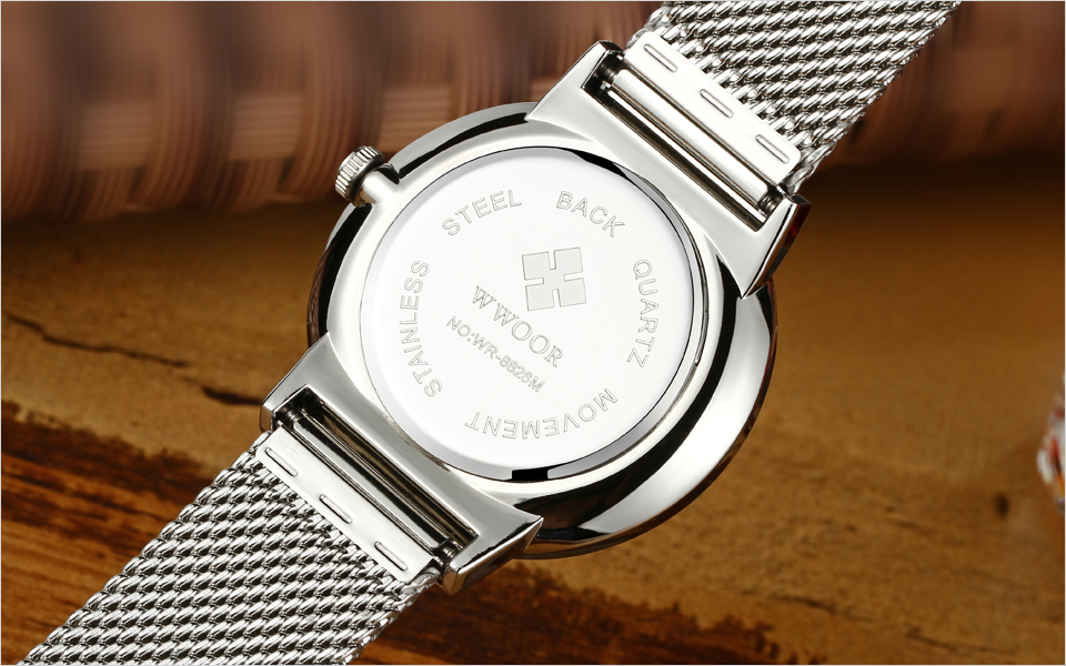 WWOOR Brand Luxury Men Waterproof Stainess Steel Casual Gold Watches Men's Quartz Sport Wrist Watch Male Clock relogio masculino 11