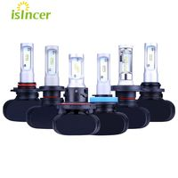 2xH4 H13 H7 H11 9005 9006 LED Car Headlight Bulbs 50W 16000LM Philips Chips CSP LED