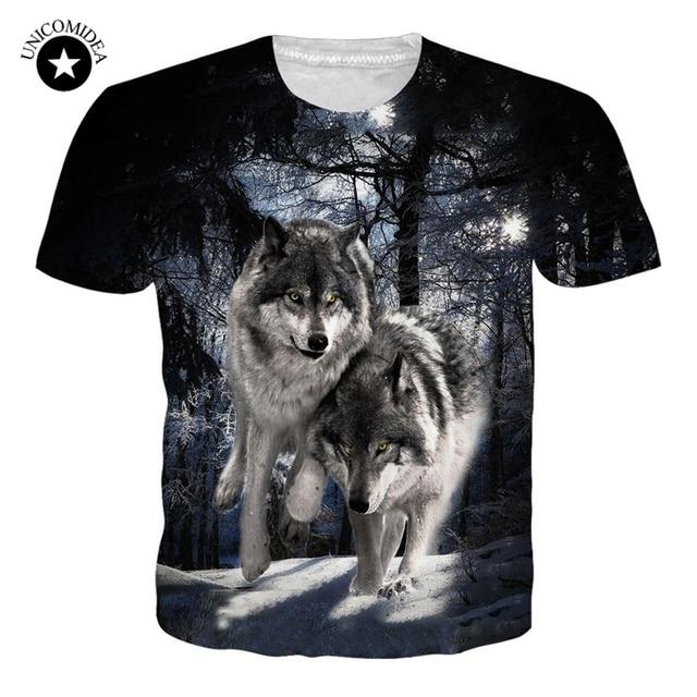 Newest Harajuku Wolf 3D Printed T Shirt Men/women's Short Sleeve T-shirts Summer Style Tee Shirt Unisex O-neck Clothes Dropshipp
