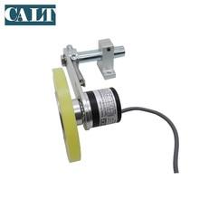 цена на 200mm perimeter 1000ppr NPN R  Push pull PNP 5 12 24 V  DC digital length distance measurement textile Wheel Encoder sensor