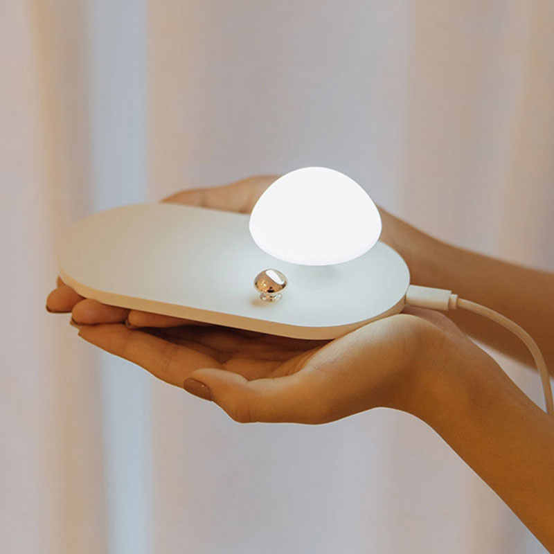 10W QI Wireless Charger Cute Mushroom Lamp Fast Charging Night Light Smart Desktop Charger for iPhone X 8 Plus Samsung S9 S9+ S8