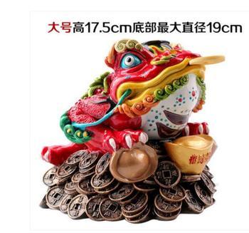 Ceramic Taocaitao Large gold frog Scorpion Jinchan Opening Wangpu Home Arts and crafts Decoration Crafts Wangye Wang Open Gift