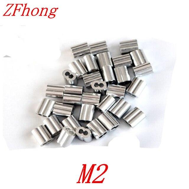 500PCS M2 2mm 8 shape Aluminum Ferrules Wire Rope Aluminum Ferrules ...